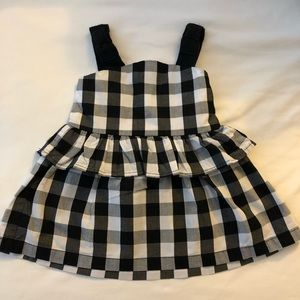 Kate spade black and white toddler dress